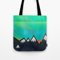 Mountain Top Sunset Tote Bag