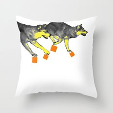 Going Wild 3 Throw Pillow