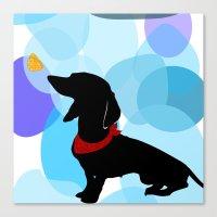 Dachshund Dog Art Print Canvas Print