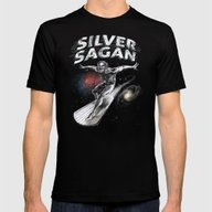 Silver Sagan Mens Fitted Tee Black SMALL