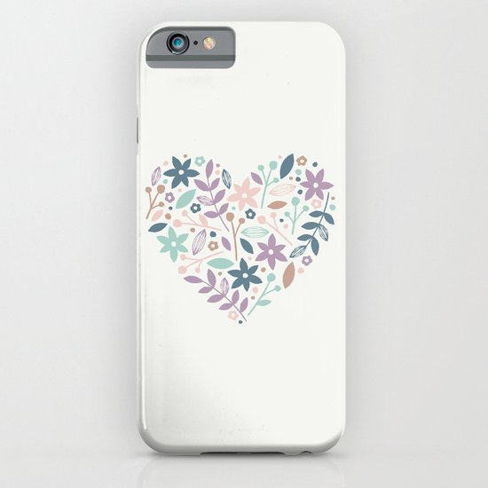 Floral Heart - in Cream iPhone & iPod Case
