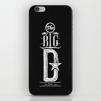 The Big D (wht) iPhone & iPod Skin