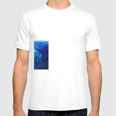 Bend In The River Mens Fitted Tee SMALL White