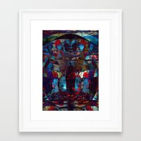 disquiet ten (loud introspections) Framed Art Print