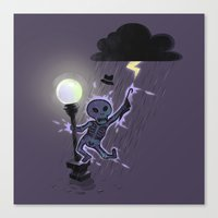 Singin'in the rain Canvas Print