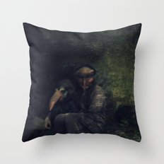 mascara Throw Pillow