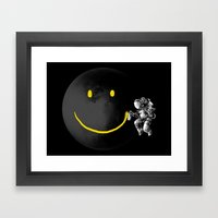 Make A Smile Framed Art Print