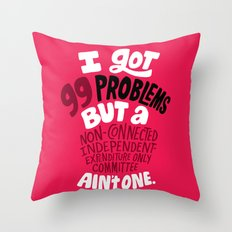 SuperPAC Problems Throw Pillow