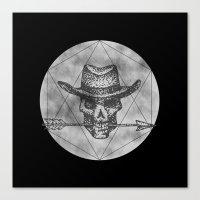 Canvas Print featuring Dead Sheriff on dark by Kostyk
