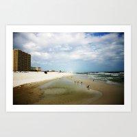 Let's Go to the Beach Art Print