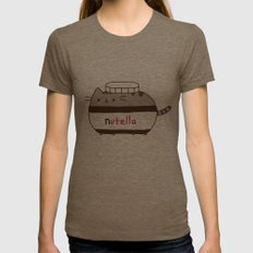 Nutella Cat Womens Fitted Tee Tri-Coffee SMALL