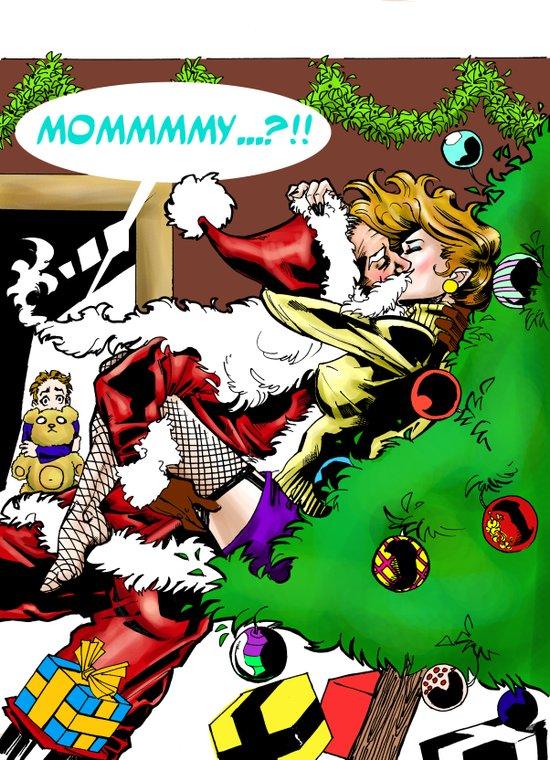 I saw mommy kissing Santa Claus Art Print
