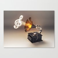 let the music play (just keep the groove) Canvas Print