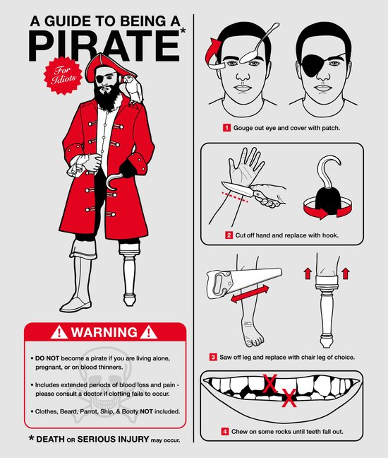 A Guide To Being A Pirate Canvas Print