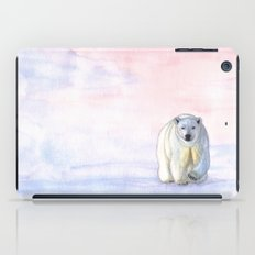 Polar bear in the icy dawn iPad Case