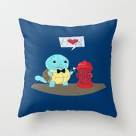 Throw Pillow featuring Squirtle Love  Marry Me … by Gunberk