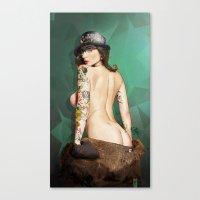 Self Portrait As A Lady … Canvas Print