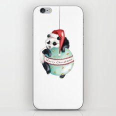 Christmas Panda iPhone & iPod Skin