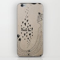 THANK YOU! iPhone & iPod Skin
