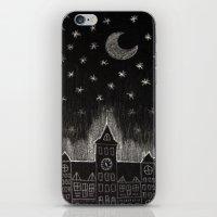 black night iPhone & iPod Skin