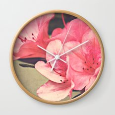 Strawberry Flowers Wall Clock
