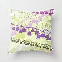 Layered Lily Throw Pillow