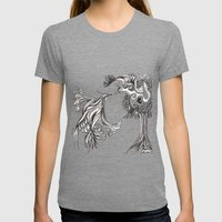 Love Birds Womens Fitted Tee Tri-Grey SMALL