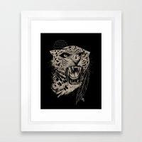 Jaguar Sun Framed Art Print