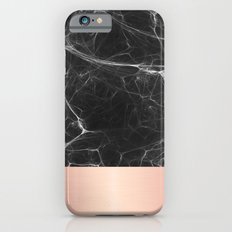 Black Marble and Pink  iPhone 6s Slim Case
