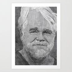 Philip Seymour Hoffman illustration Art Print