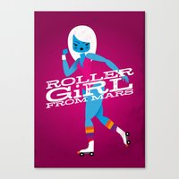 Roller Girl From Mars Canvas Print