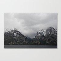 Jenny Lake And The Teton… Canvas Print