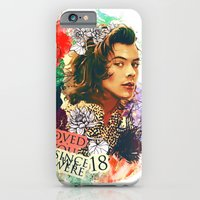 iPhone Cases featuring Child of flowers Harry Styles, One Direction by True Colors :-)