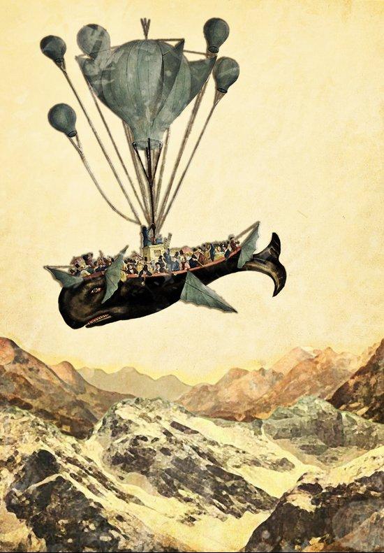 whale flight I Canvas Print