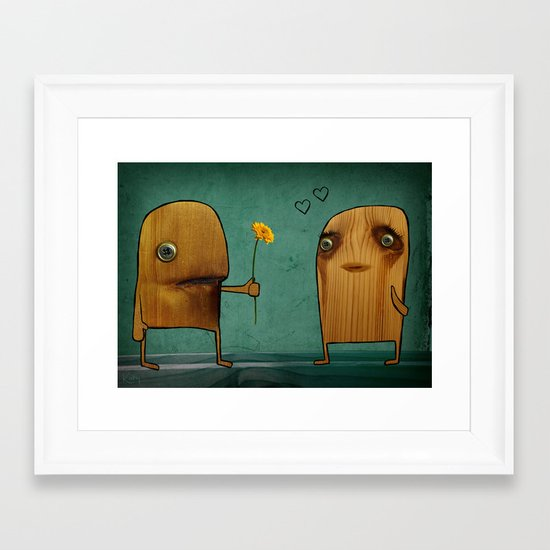 Wood He Love Me? Framed Art Print