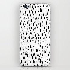 Polka rain drops iPhone & iPod Skin