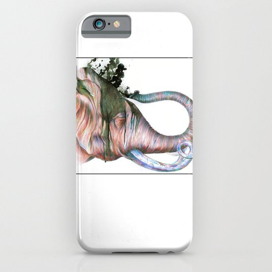 Elephant Shower in Red iPhone & iPod Case