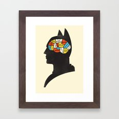 Bat Phrenology Framed Art Print
