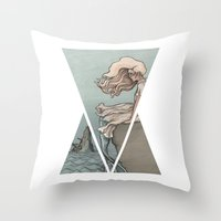 Evolution of a Mermaid Throw Pillow