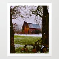 Remnants Of A Simpler Ti… Art Print