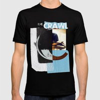 THE CRAWL Mens Fitted Tee Black SMALL