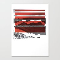 Red Terrain Canvas Print