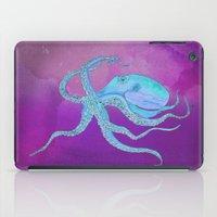 Octopus Swims iPad Case