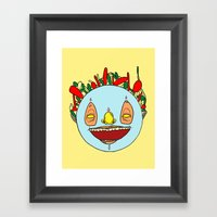 Heads Up! Framed Art Print