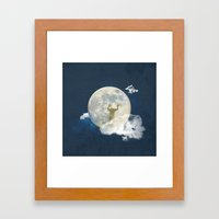 man in the moon Framed Art Print