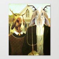 Gothic Jackalopes Canvas Print