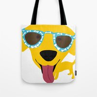 Labrador Dog - Sunglasse… Tote Bag