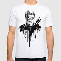 Avengers in Ink: Hawkeye Mens Fitted Tee Ash Grey SMALL