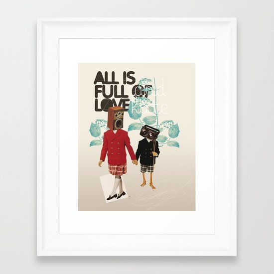 ALL IS FULL OF LOVE Framed Art Print