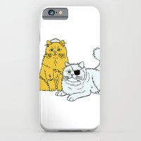 iPhone & iPod Case featuring Navy Cat by Paul Brunet